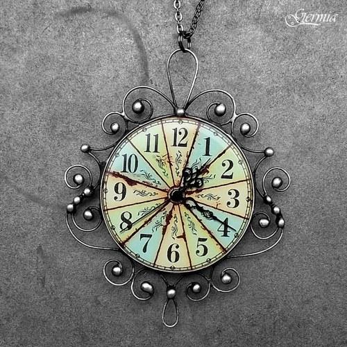 Viktoriánské hodinové zrcátko