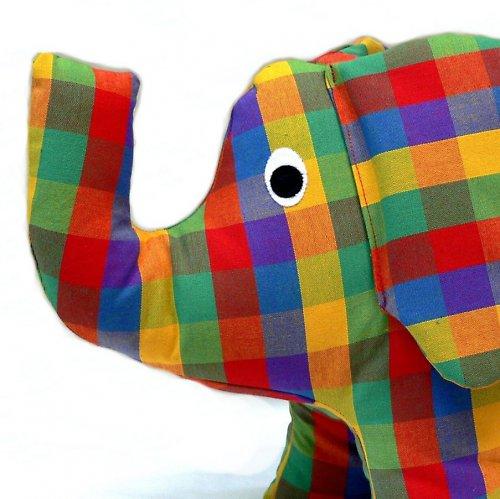 kostkovaný slon