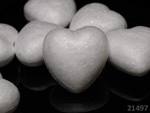 21497 EPS výlisek polystyrénové srdce 100mm, á 1ks