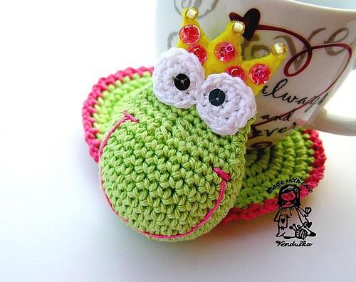 Podložka Žabka princezna - návod
