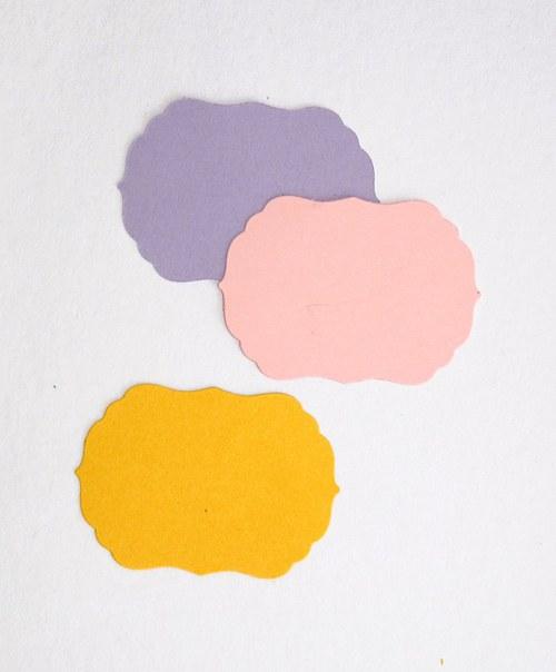Štítky závorkové - 3 ks - barva podle přání