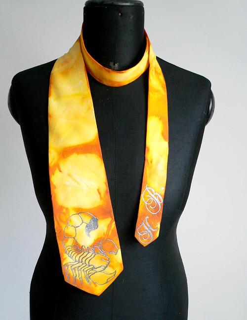 Luxusní kravata - Štír- SD-H-011