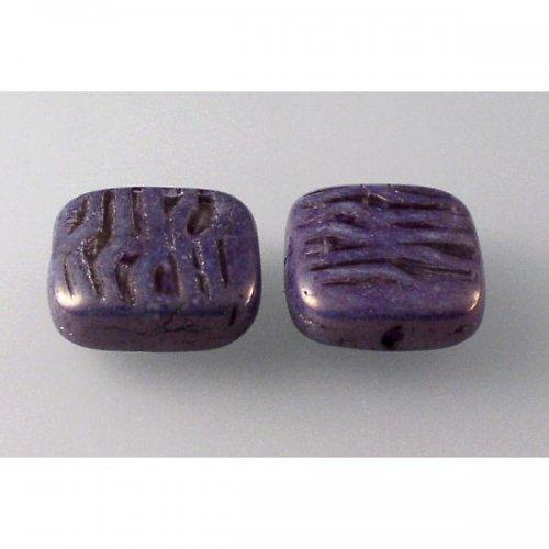 mačkané korálky křída do fialova 16x15 4ks