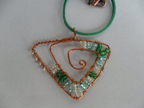 SLEVA  Zelené snění náhrdelník