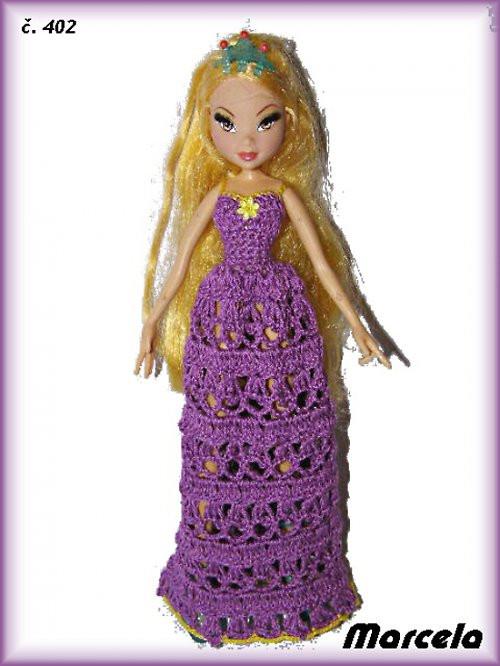 oblečky- šatičky pro panenky barbie víly winx
