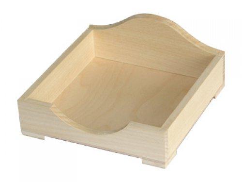 Dřevěná krabička na ubrousky DL86