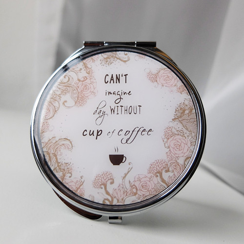 Can\'t imagine day without tea zrcátko