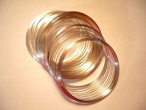 Paměťový drát - náramek, průměr 63 mm, 20 otoček