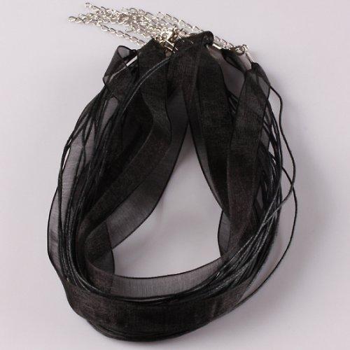 Organza náhrdelník černý --50ks--
