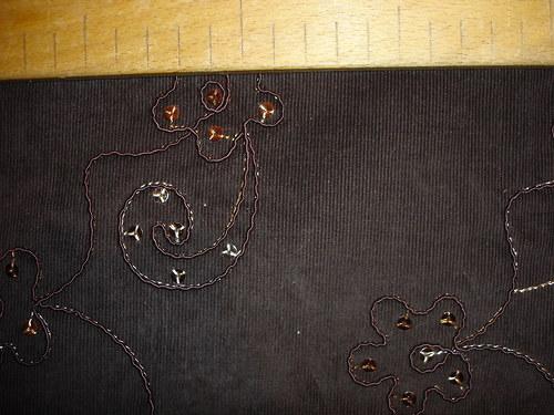 elastický zdobný manšestr,cena za 0,6m