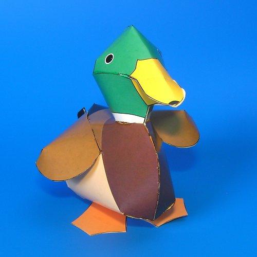 Kachna divoká - vystřihovánka - autorská grafika