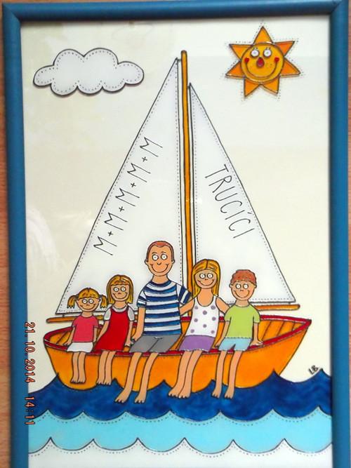 Rodinka na lodi