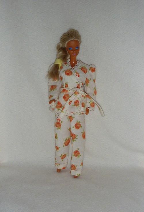 Pyžamko s krajkou pro panenku Barbie