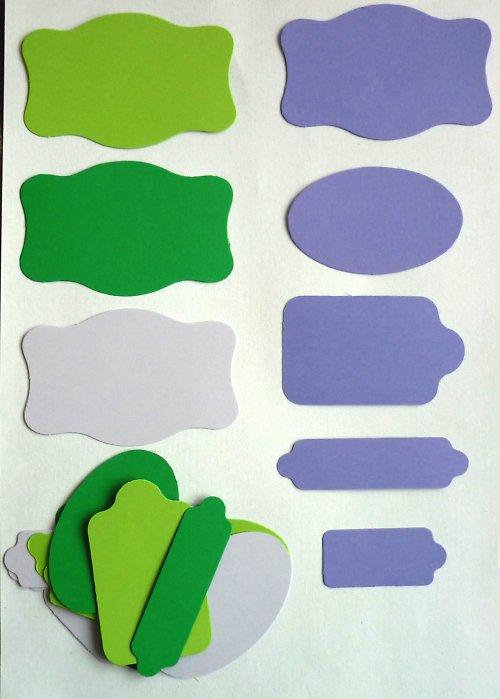 Cedulky levandulové - výseky 20 ks
