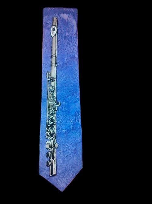 Kravata s příčnou flétnou