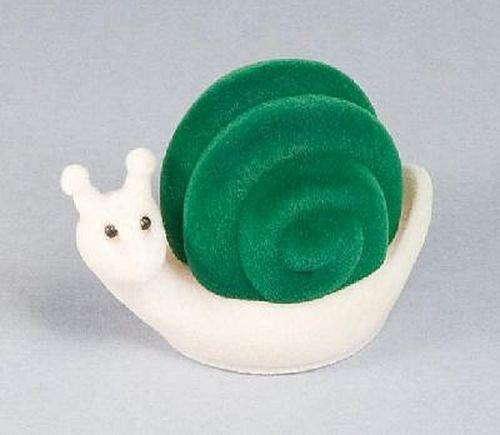 šnek se zelenou ulitou - krabička na šperky
