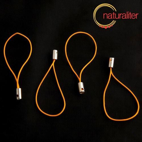 Šnůrka (poutko) 5 cm oranžová, 10ks