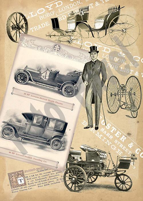 Vintage motiv - auta