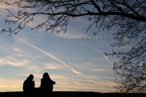 Romantika při západu slunce