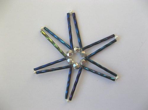 Vánoční ozdoba - hvězda modrá