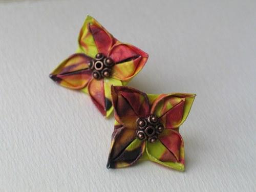 Slunečničky - origami náušnice