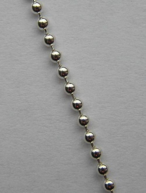 Stříbrný řetízek kuličkový - délka 42cm
