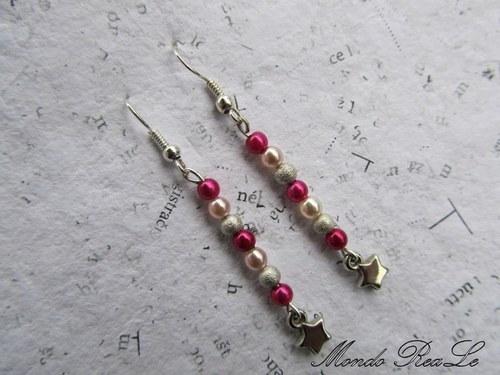 Růžové voskové perle s hvězdičkou