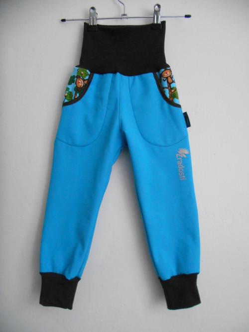 softshell.kalhoty s opičkami tyrkysové