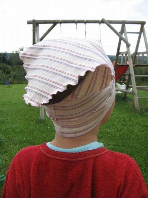 Šátek pro slečny - pruhovaný - vel. 1-2 roky
