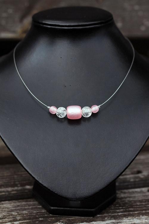 Lehce růžově - náhrdelník