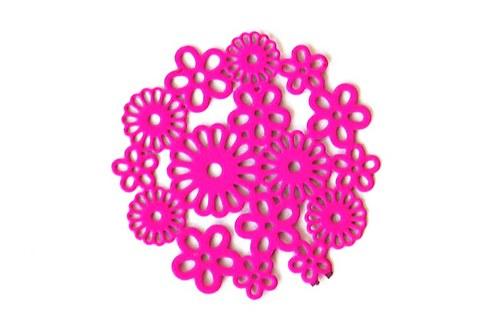 Měděné kolečko - růžové květy