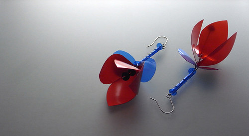 Náušnice Fuchsia-Rud-Mod