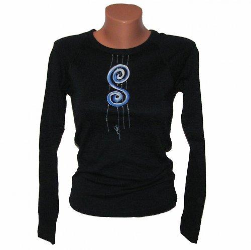 Tričko malované - tmavě modrá