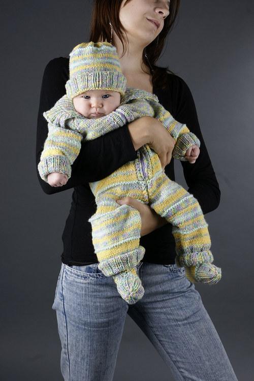 Popis - návod na pletenou dětskou soupravu Softie