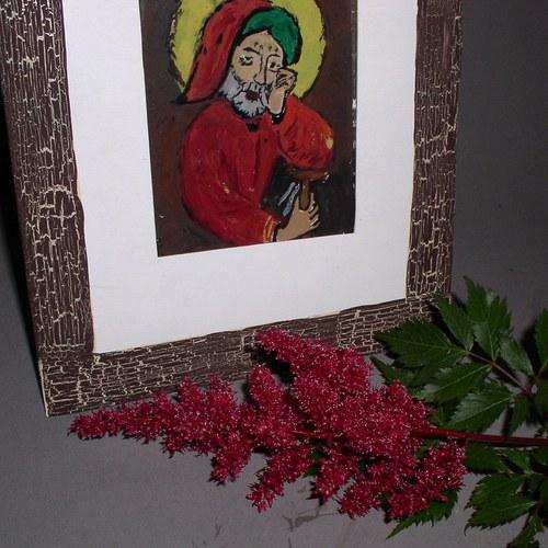 Podmalba na skle 3 Svatý Josef