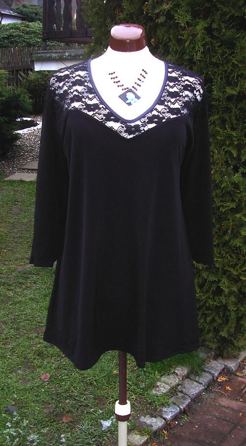 Černá tunika s krajkou