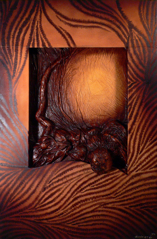 Kožený obraz - Safari I