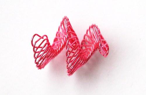 spirálka z drátku- růžová