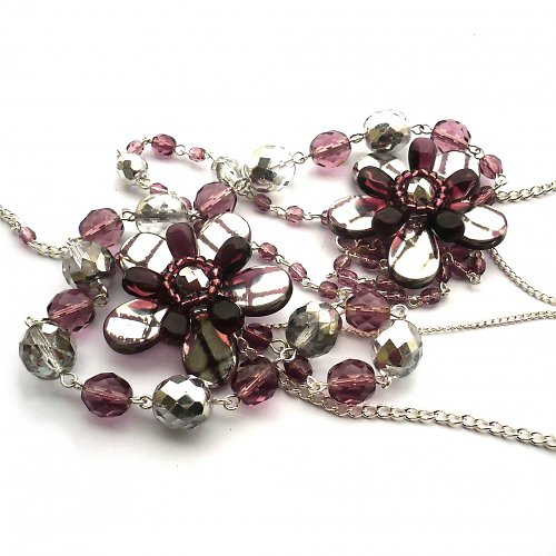 Pocukrované fialky - náhrdelník - 10% sleva!!!