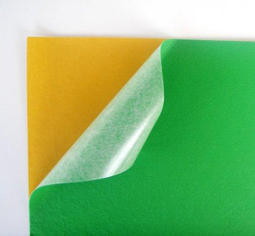 Samolepicí plsť barva č.6 - středně zelená
