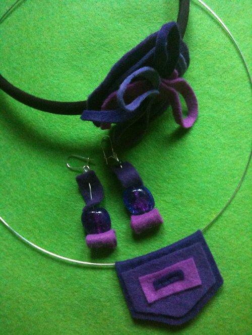 naušnice, náhrdelník a čelenka Lola