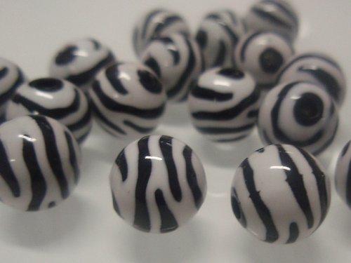 19472-b01 Korálky zebra kulaté bílo/černé bal.10ks
