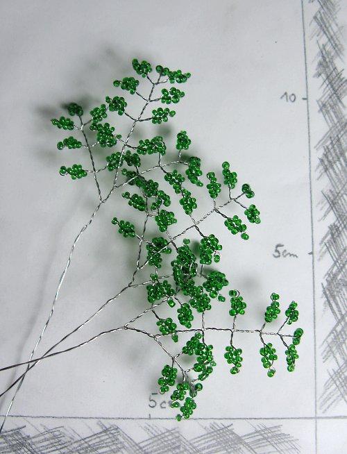 Listy 3 korálkové do kytice