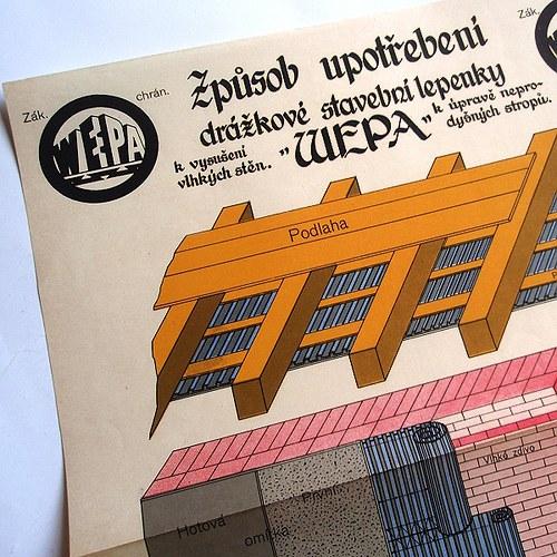 Reklama STAVEBNÍ LEPENKA WEPA - č.1285