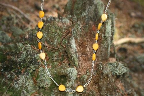 Řetízek se žlutou perletí
