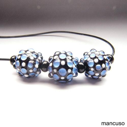 náhrdelník pásovec modrý