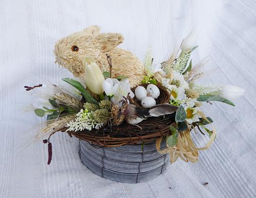 se zajíčkem...velikonoční dekorace
