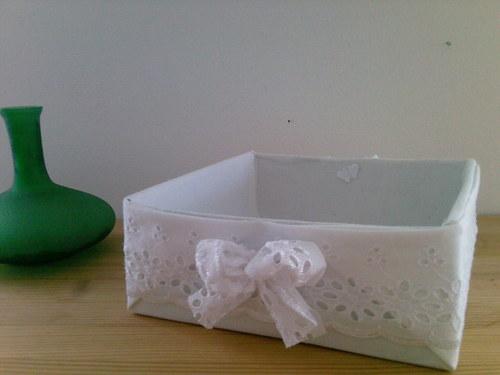 Romantická látková krabička