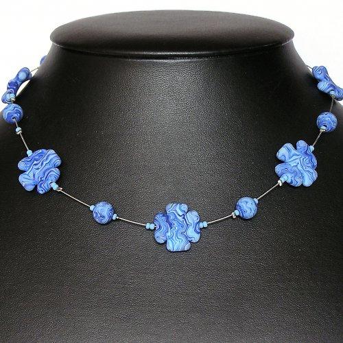 Náhrdelník - kytky - vinuté perle