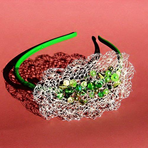 Pavučinka - do vlasů - zelená